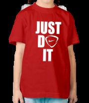 Детская футболка  Just do it