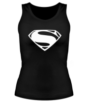 Женская майка борцовка Superman logo from Batman v Superman Dawn of Justice