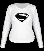 Женская футболка с длинным рукавом Superman logo from Batman v Superman Dawn of Justice
