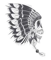 Детская футболка  Инди череп