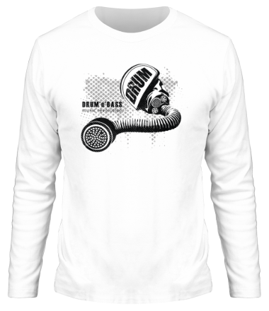 Мужская футболка с длинным рукавом D'n'B music revolution