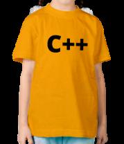 Детская футболка  C++