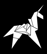 Мужская футболка с длинным рукавом Оригами Единорог