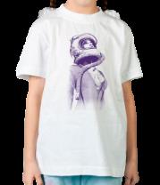Детская футболка  Женщина-космонавт