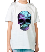 Детская футболка  Космический череп
