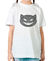 Детская футболка  Кошка с хэллоуинским узором