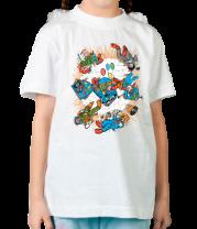 Детская футболка  Взрыв клоуна-мобиля