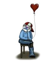 Детская футболка  Влюблённый клоун