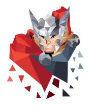 Женская футболка  Polygon Thor