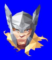 Женская футболка  Geometric Thor