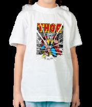 Детская футболка  Могучий молот Тора