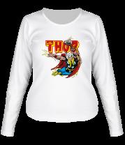 Женская футболка с длинным рукавом Разящий молот