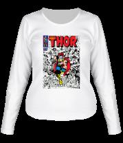 Женская футболка с длинным рукавом Могущественный Тор