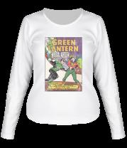 Женская футболка с длинным рукавом Зеленый Фонарь обложка