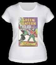 Женская футболка  Зеленый Фонарь обложка