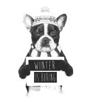 Толстовка без капюшона Зима-это скучно