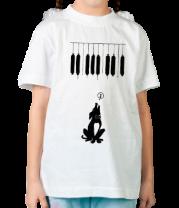 Детская футболка  Собака и музыка