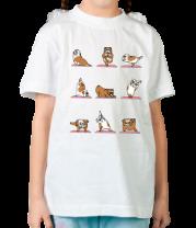 Детская футболка  Английский бульдог. Йога.