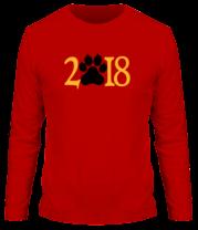 Мужская футболка с длинным рукавом Новый год 2018