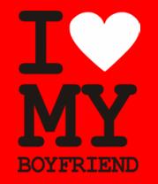 Мужская футболка с длинным рукавом I love my boyfriend