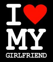 Толстовка без капюшона I love my girlfriend