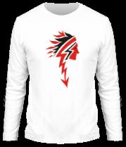 Мужская футболка с длинным рукавом Индеец