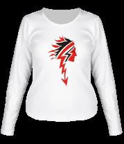 Женская футболка с длинным рукавом Индеец