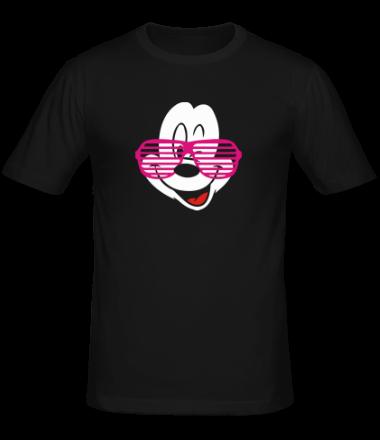 Мужская футболка  Микки Маус в очках