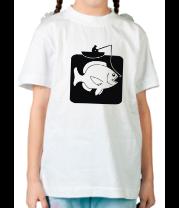 Детская футболка  Рыбак и большая рыба