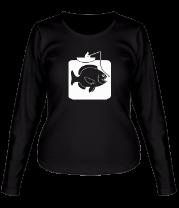 Женская футболка с длинным рукавом Рыбак и большая рыба