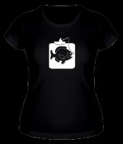 Женская футболка  Рыбак и большая рыба