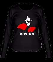 Женская футболка с длинным рукавом Russia boxing