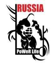 Женская футболка с длинным рукавом Power life