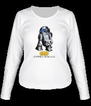 Женская футболка с длинным рукавом R2D2