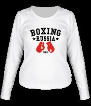Женская футболка с длинным рукавом Boxing Russia