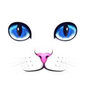 Женская футболка  Кошачьи глаза