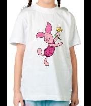 Детская футболка  Пятачок