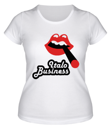 Женская футболка  Italo business