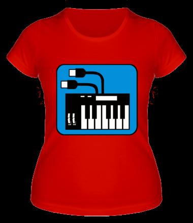 Женская футболка  Синтезатор