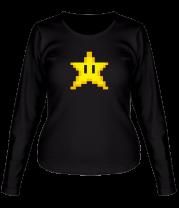 Женская футболка с длинным рукавом Звезда