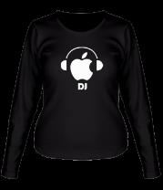 Женская футболка с длинным рукавом Apple DJ
