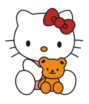 Детская футболка  Китти и Тедди