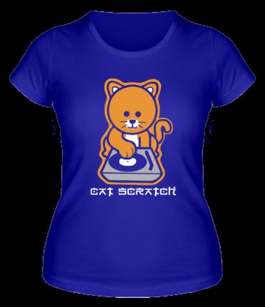 Женская футболка  Cat scratch