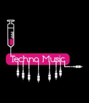 Футболка поло мужская Techno music