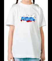Детская футболка  Карта России