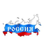 Женская футболка  Карта России