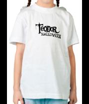 Детская футболка  Teodor halloween