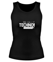 Женская майка борцовка We call it Techno