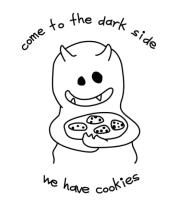 Женская футболка с длинным рукавом Come To Dark Side Cookies