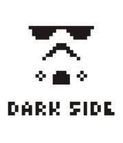 Мужская футболка с длинным рукавом Dark side pixels